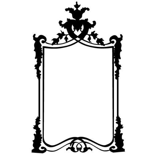 Clicanddeco Stickers Cadre Baroque 43 X 70 Cm Noir Mat Amazon
