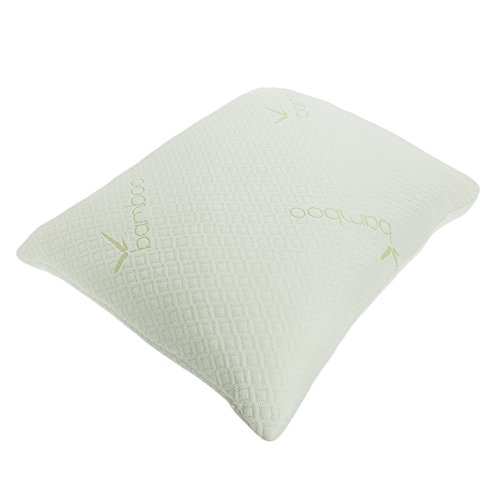 Price comparison product image PREMIUM Adjustable Loft - Shredded Hypoallergenic Certipur Memory Foam Pillow with washable removable cooling bamboo derived rayon cover (Standard(5050))