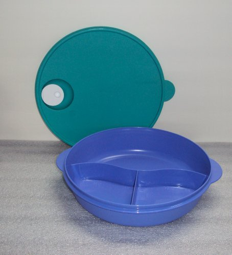 Tupperware Crystalwave Divided Luncheon Dish 3 Section