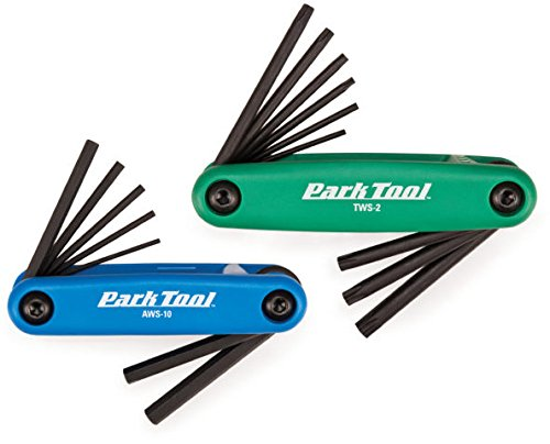 - Park Tool FWS-2 Fold-Up Hex and Torx Wrench Combo Set Blue/Green, AWS-10/TWS-2