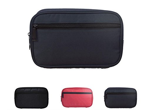 Yunqir Multi-functional Canvas Tablet Accessories Bag Headset Charging Cable Storage Bag for Tablet/Notebook/Phone