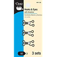 Dritz 438-33 Hook & Eye Closures, 2 Count