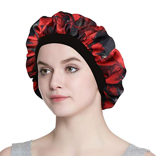 Ideal Gift Hair Care Satin Nightcap with Elastic Band ()