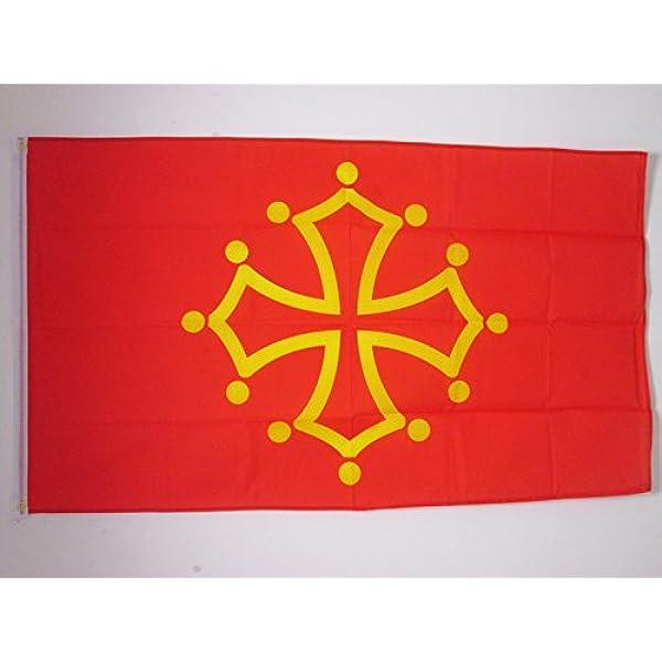 AZ FLAG Bandera de MEDIODÍA-Pirineos - OCCITANIA 150x90cm - Bandera DE Midi-PYRÉNÉES - OCCITANIE - Francia 90 x 150 cm: Amazon.es: Hogar