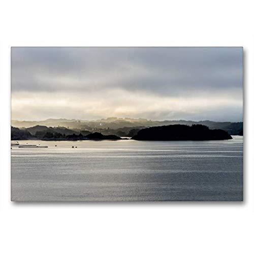 CALVENDO Toile de qualité supérieure - 90 cm x 60 cm - Impression sur Toile - Printemps Le Matin Nature
