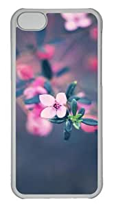 Customized Case nature flower colorful 25s PC Transparent for Apple iPhone 5C