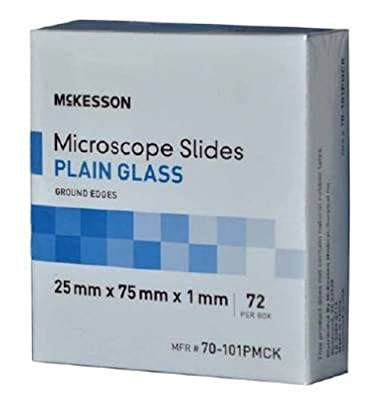 McKesson Microscope Slides Plain 25Mmx75Mmx1Mm - Box of 72 - Model 70-101pmck from McKesson