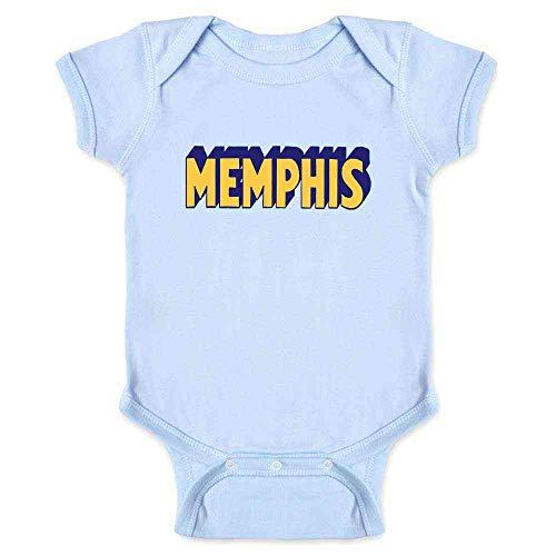 Memphis Tennessee Retro Vintage Travel Light Blue 6M Infant Bodysuit