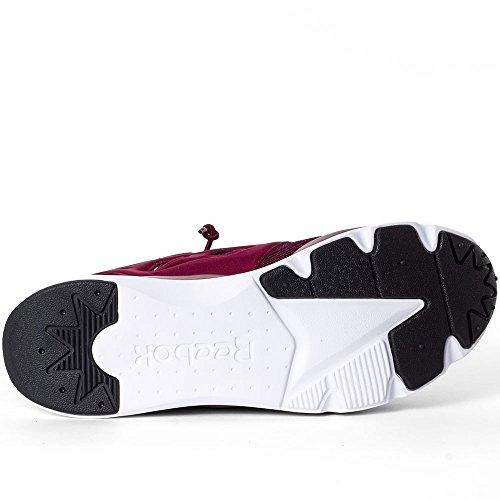 Reebok Furylite, Chaussures de Sport Homme, Rot Bordeaux et blanc