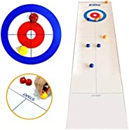 Table Top Curling Olympics,Desktop Curling Game,Curling Game for The Floor,Tabletop Curling Game Set,Adults an