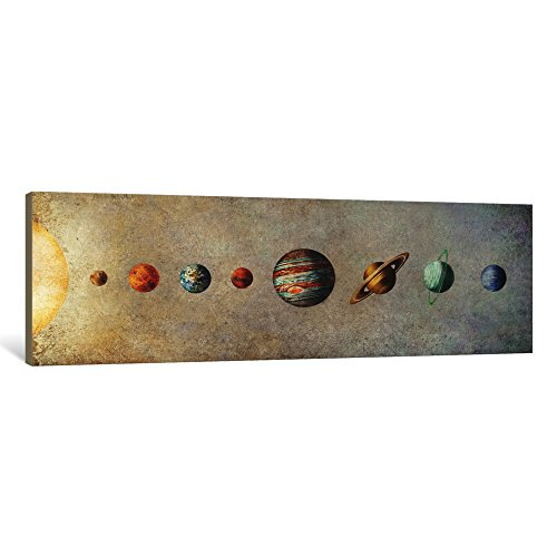 iCanvasART 1 Piece The Solar System Canvas Print by Terry Fan, 36'' x 12''/0.75'' Deep by iCanvasART