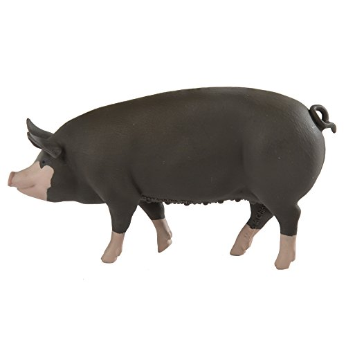 e Pig - Realistic Hand Painted Toy Figurine Model - Quality Construction from Phthalate, Lead and BPA Free Materials - For Ages 3 and Up ()