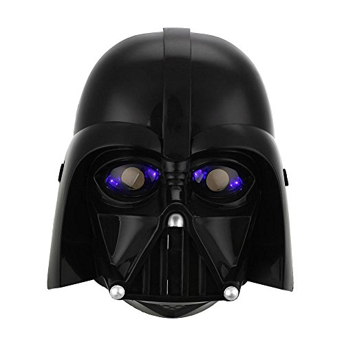 [Star Wars LED Light Stormtrooper Darth Vader Mask Helmet Costume Halloween Toys (black)] (Wine Bottle Costumes Halloween)