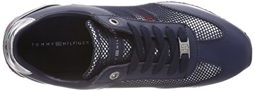 Tommy Tommy Tommy para Navy Flag Corporate Hilfiger Azul 406 Mujer Sneaker Zapatillas qxASRU4x