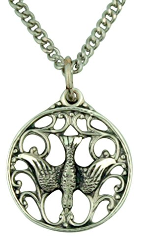- Creed The Holy Spirit Dove 5/8 Inch Sterling Silver Pierced Medal