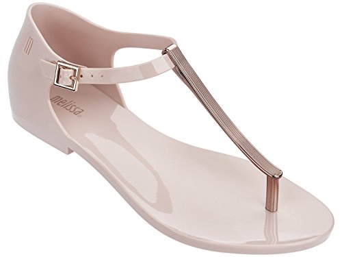 Melissa Womens Honey Chrome Thong Sandal Sand Size 9
