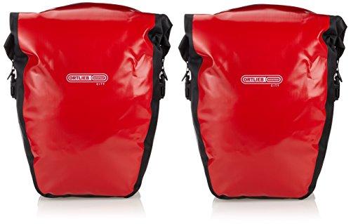 Ortlieb Unisex Gepäckträgertasche Back-Roller City Paar, rot-schwarz, 42 x 32 x 17 cm, 40 Liter, F5001