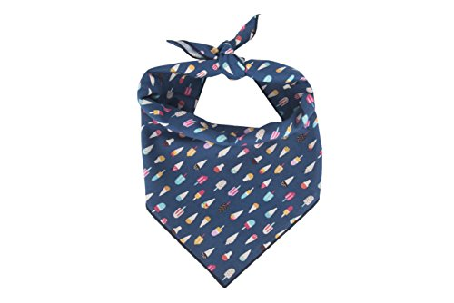 Willowear Dog Bandanas Ice Cream Cones Medium ()