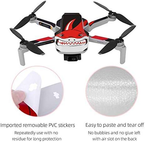 Linguhang Drone Decal Autocollant Décalcomanies Peau Anti-Rayure Etanche Chic Motif pour DJI Mavic Mini Drone et Télécommande Imperméable PVC (Type 7)