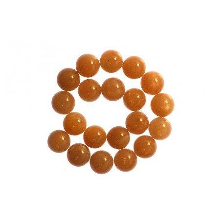 2 x Perle Pierre de Lune Chocolat 8mm - Grade A