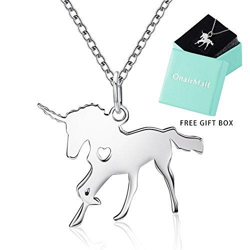 OnairMall Unicorn Jewelry 925 Sterling Silver Unicorn Dainty Pendant Necklace Best Gift for Women Girl Valentine Christmas
