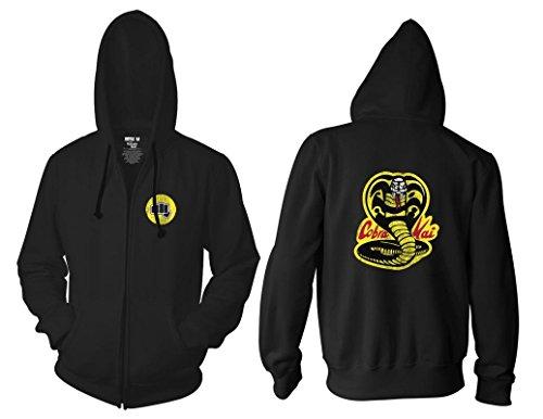 Ripple Junction Karate Kid Cobra Kai Yellow Fist Adult Zip Hoodie