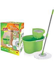 Scotch-Brite XY003853716 T4 Press and Spin Mop Set with Free Refill Green