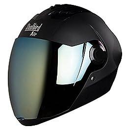 Steelbird Unisex Air Sba, 2 Supreme Stylish ABS Helmet For Bikers, Free Transparent Visor (Black, Large)