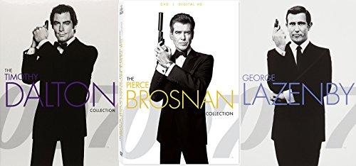 James Bond 007 Pierce Brosnan, Timothy Dalton & George Lazenby Collection 7-DVD Bundle