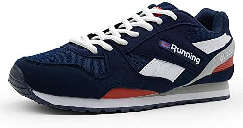 ONKE Mens Suede Running Shoes Comfortable Lightweight Retro Classic Sneakers