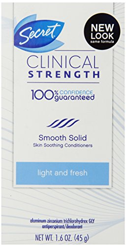 Secret Clinical Strength Smooth Solid Women's Antiperspirant & Deodorant Light & Fresh Scent 1.6 Oz Smooth Scents