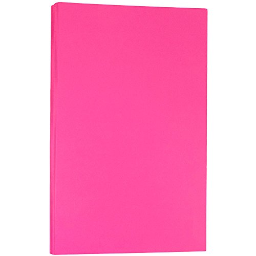 JAM PAPER Legal Colored 24lb Paper - 8.5 x 14 - Ultra Fuchsia Pink - 100 Sheets/Pack