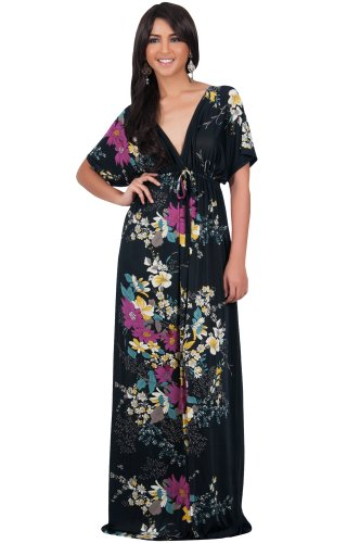 659a0e8c5dbc KOH KOH Womens Long Summer Floral Evening Sexy Kaftan Evening Gown Maxi  Dress