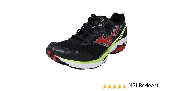 Mizuno Wave Rider 16 Zapatillas de correr para hombre, Negro (Negro / Rojo / Amarillo), 41 EU: Mizuno: Amazon.es: Zapatos y complementos
