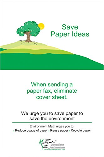 Save Paper Ideas, Eliminate fax Cover Sheet Wall Posters