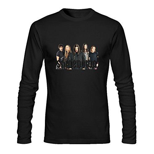 Diy Shinedown Men's Tshirt Long Sleeve by Fangbai Liu XL Black