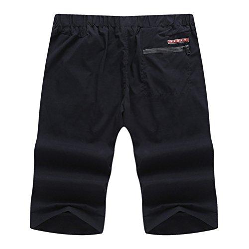 Zhuhaitf Suave y cómodo Mens Soft Sports Fitness Comfortable Tracksuit Running Shorts Pants with Zipper Pocket SizeXL-8XL Black 2