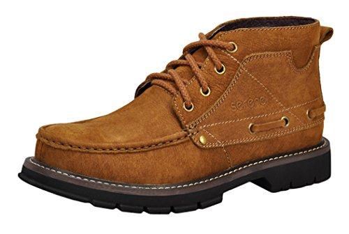 Serene Mens Retro Dunk High Lace Up Oxfords Shoes(9 D(M)US, Tan)