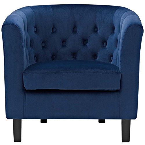 Modway Prospect Upholstered Contemporary Modern Armchair In Navy Velvet