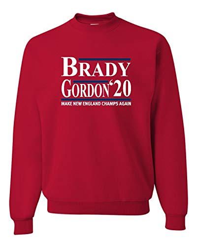 Medium Red Adult Brady Gordon 2020 Sweatshirt Crewneck