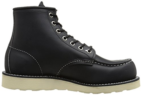 Leather Red Moc Classic Boots Black Wing Mens I88Pw0g
