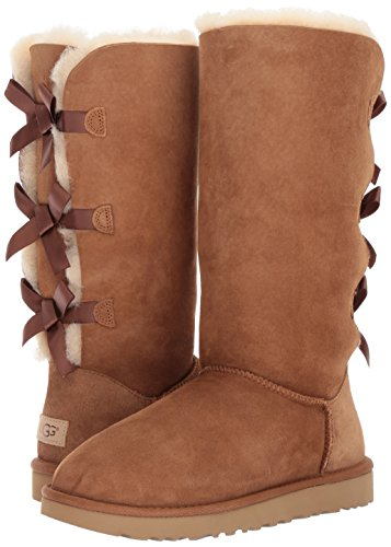 59a6a3b3ae2 UGG Women's Bailey Bow Tall II, Chestnut, 8 M US - Import It All