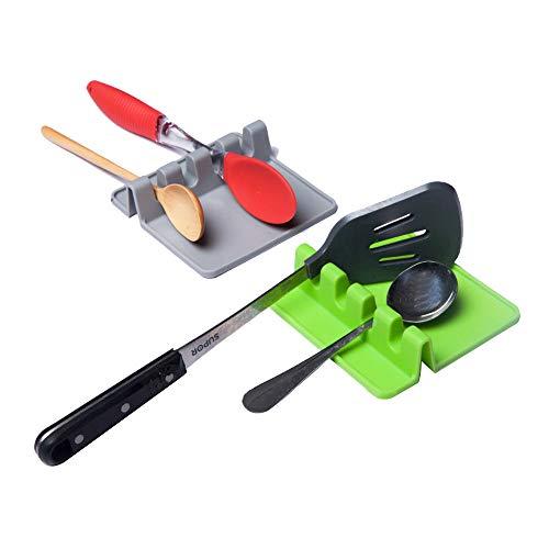 Heat Resistant Kitchen Utensil Spatula Holder,Soup Pot Fixing Clip Cooking Tools Rack Storage Organizer ()