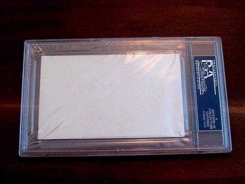 Tommy Lasorda Tom Best Wishes Dodgers Hof Signed Auto Vintage Index Gem PSA/DNA Certified MLB Cut Signatures