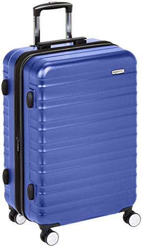 AmazonBasics Premium Hardside Spinner Luggage with Built-In TSA Lock - 28-Inch, Blue