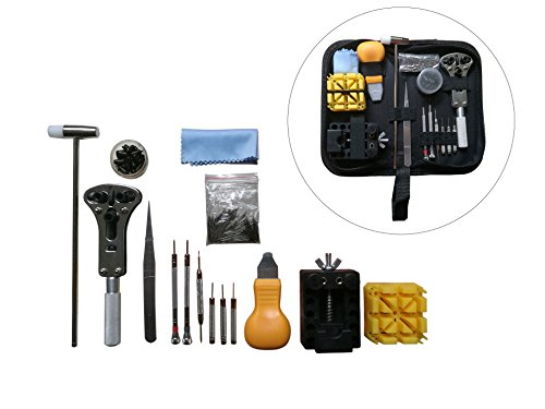 Watch Sizing Tool (Watch Repair Tool Kit, 194 Piece Professional Wrist Watch Band Link Back Pin Strap Removal Adjustment Sizing Opening Kit Set with Carrying Case)