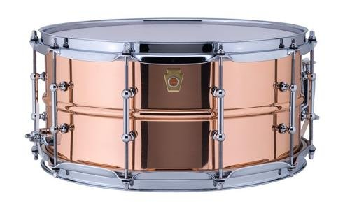 Ludwig Copper Phonic Smooth Snare Drum 14 x 6.5 in. Smooth Finish with Tube Lugs by Ludwig