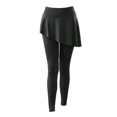 ZJCK Pantalones Deportivos para Mujer Pantalones Falsos de ...
