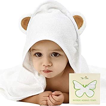 312a2d70d9 Amazon.com   Organic Bamboo Baby Hooded Towel for Infants