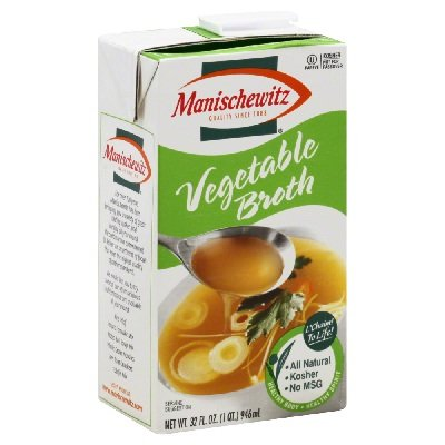 Manischewitz Vegetable Broth, 32-Ounce Packages (Pack of 12)